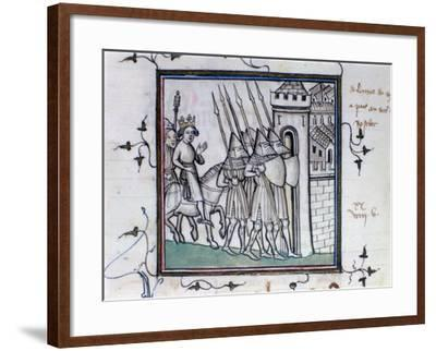 The Return of Charles VI of France after the Battle of Rosbecque, 1382--Framed Giclee Print
