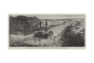 The Return of Dr Nansen, the Arrival of the Fram at Christiania--Giclee Print