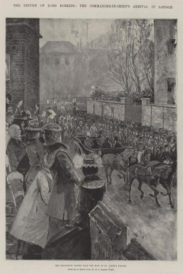 The Return of Lord Roberts, the Commander-In-Chief's Arrival in London-Henry Charles Seppings Wright-Giclee Print