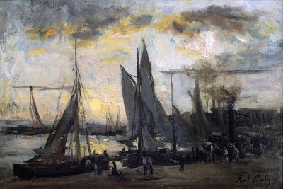 The Return of the Fishermen, Late 19th Century-Karl Daubigny-Giclee Print