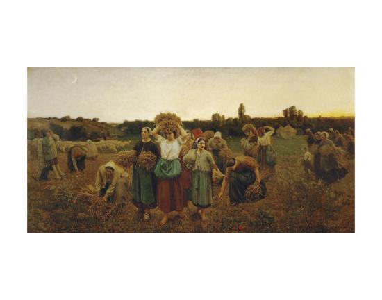 The Return of the Gleaners, c.1859-Jules Breton-Art Print