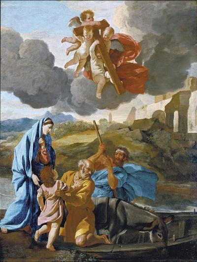 The Return of the Holy Family from Egypt-Nicolas Poussin-Giclee Print
