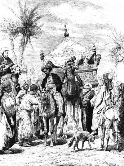 The Return of the Pilgrimage, 1881--Giclee Print