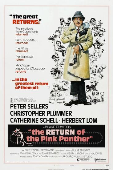 The Return of the Pink Panther, US poster, Peter Sellers, 1975--Art Print