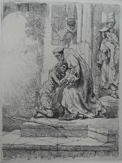 The Return of the Prodigal Son, 1636-Rembrandt van Rijn-Giclee Print