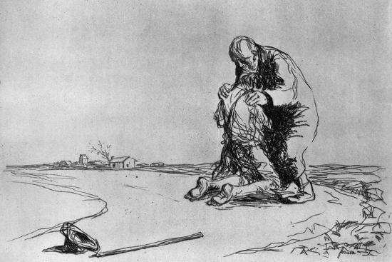 The Return of the Prodigal Son, 1925-Jean Louis Forain-Giclee Print