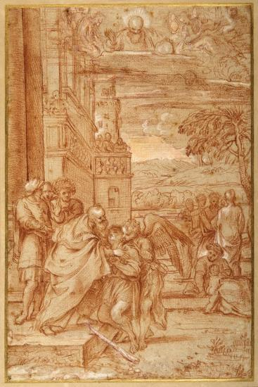 The Return of the Prodigal Son, after Annibale Carracci-Annibale Carracci-Giclee Print