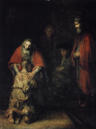 The Return of the Prodigal Son, C1668-Rembrandt van Rijn-Giclee Print