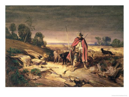The Return of the Shepherd-Gabriel-alexandre Descamps-Giclee Print
