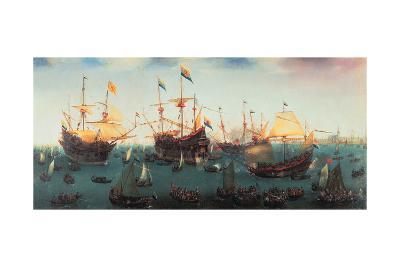 The Return to Amsterdam of the Second Expedition to the East Indies, 19 July 1599-Hendrick Cornelisz^ Vroom-Giclee Print