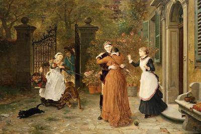 The Reunion, 1884-Ludwig Knaus-Giclee Print