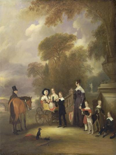 The Rev and Mrs Henry Palmer with their Six Younger Children at Withcote Hall-John E^ Ferneley-Giclee Print