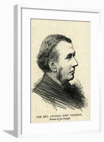 The Rev.Charles John Vaughan, the Dean of Llandaff--Framed Giclee Print
