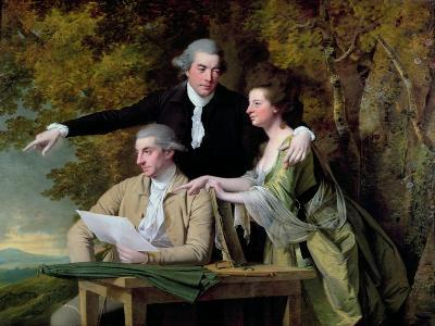 The Rev. D'Ewes Coke, His Wife Hannah and Daniel Parker Coke, M.P., c.1780-82-Joseph Wright of Derby-Giclee Print
