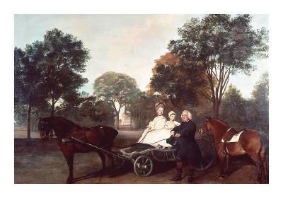 The Rev Robert Carter Thelwall and Family-George Stubbs-Premium Giclee Print