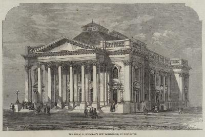 The Reverend C H Spurgeon's New Tabernacle, at Newington--Giclee Print