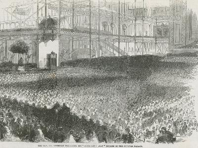 The Reverend Charles Haddon Spurgeon Preaching His 'Humiliation Day' Sermon in the Crystal Palace--Giclee Print