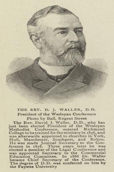 The Reverend D J Waller--Giclee Print