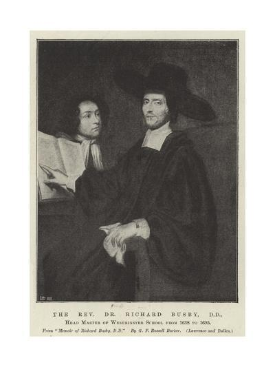 The Reverend Dr Richard Busby, Dd, Head Master of Westminster School Form 1638 to 1695--Giclee Print