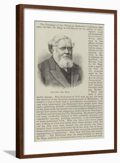 The Reverend Dr Rigg--Framed Giclee Print