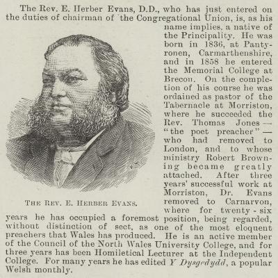 The Reverend E Herber Evans--Giclee Print