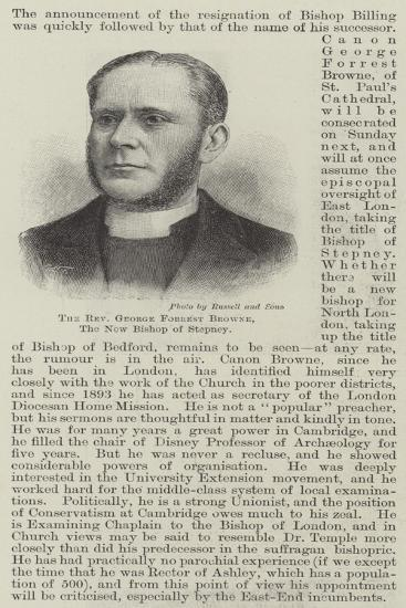 The Reverend George Forrest Browne, the New Bishop of Stepney--Giclee Print