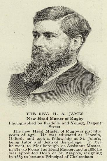 The Reverend H a James--Giclee Print