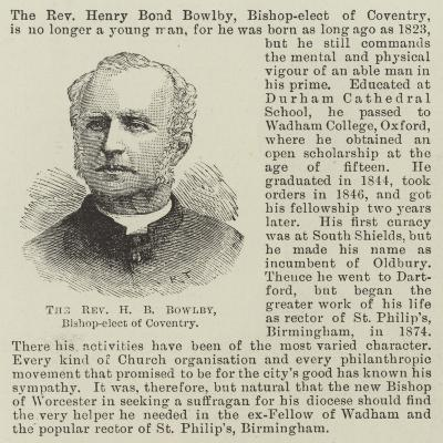 The Reverend H B Bowlby, Bishop-Elect of Coventry--Giclee Print