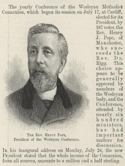 The Reverend Henry Pope, President of the Wesleyan Conference--Giclee Print