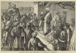 The Reverend Imam Shah Preaching to Afghans at Peshawur