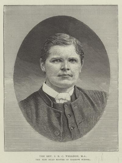 The Reverend J E C Welldon, Ma, the New Head Master of Harrow School--Giclee Print
