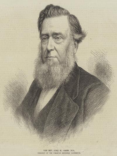 The Reverend John H James, Dd, President of the Wesleyan Methodist Conference--Giclee Print