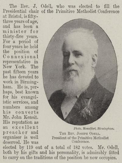 The Reverend Joseph Odell, President of the Primitive Methodist Conference--Giclee Print