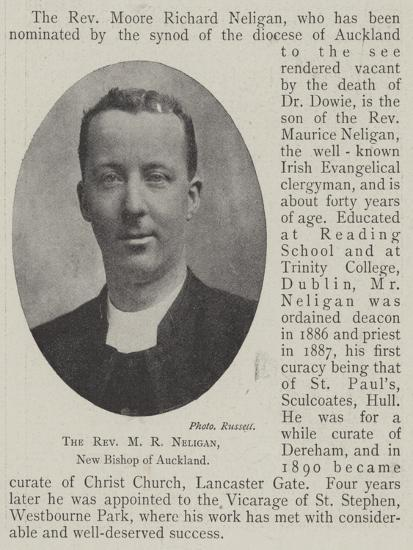 The Reverend M R Neligan, New Bishop of Auckland--Giclee Print