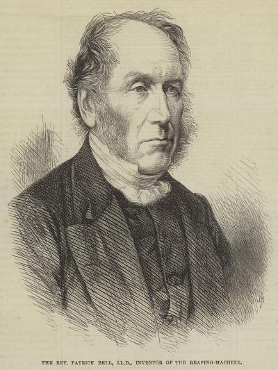 The Reverend Patrick Bell, Lld, Inventor of the Reaping-Machine--Giclee Print