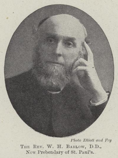 The Reverend W H Barlow, Dd, New Prebendary of St Paul's--Giclee Print