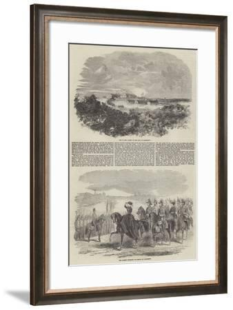 The Review at Aldershott--Framed Giclee Print