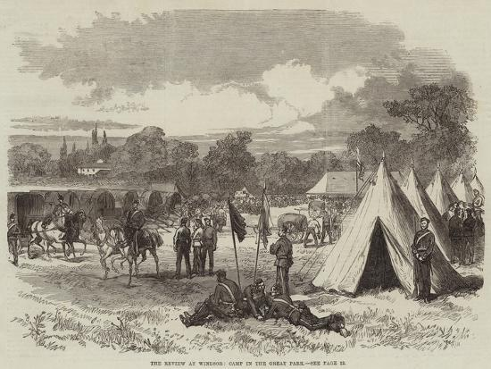 The Review at Windsor, Camp in the Great Park--Giclee Print