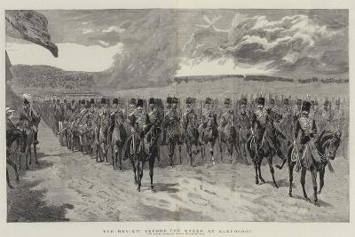 The Review before the Queen at Aldershot-John Charlton-Giclee Print