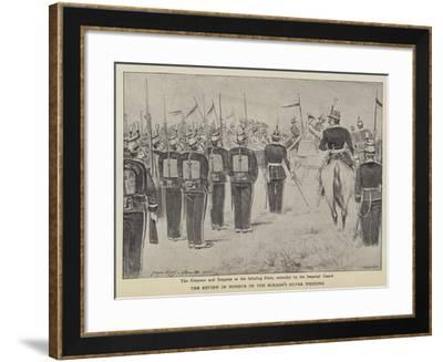 The Review in Honour of the Mikado's Silver Wedding--Framed Giclee Print