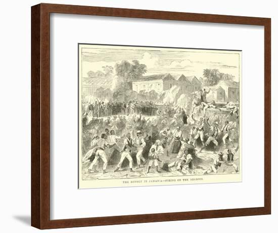 The Revolt in Jamaica, Firing on the Negroes--Framed Giclee Print