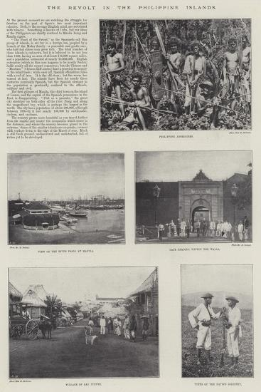 The Revolt in the Philippine Islands--Giclee Print