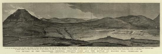 The Revolt in the Transvaal, General Colley's Camp and the Battle of Majuba Hill, 27 February--Giclee Print