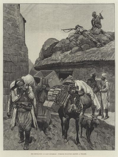 The Revolution in East Roumelia, Turkish Fugitives Leaving a Village-Richard Caton Woodville II-Giclee Print