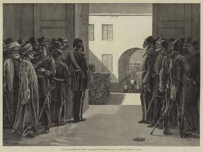 The Revolution in Egypt, Reception of Tewfik Pasha at the Citadel of Cairo-Frank Dadd-Giclee Print