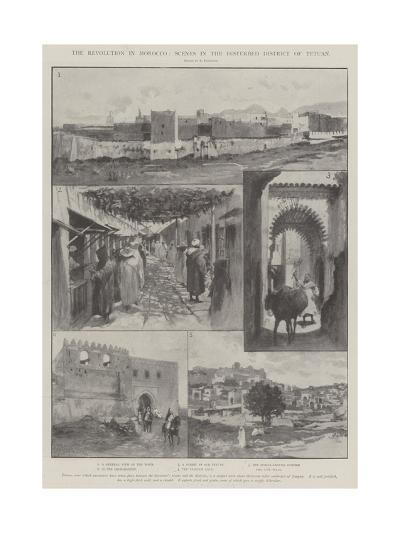The Revolution in Morocco, Scenes in the Disturbed District of Tetuan-Amedee Forestier-Giclee Print