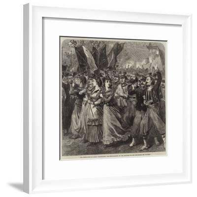 The Revolution in Paris, Celebrating the Proclamation of the Republic on the Boulevard Des Italiens-Arthur Hopkins-Framed Giclee Print