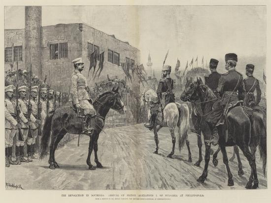 The Revolution in Roumelia, Arrival of Prince Alexander I of Bulgaria at Philippopolis-Richard Caton Woodville II-Giclee Print