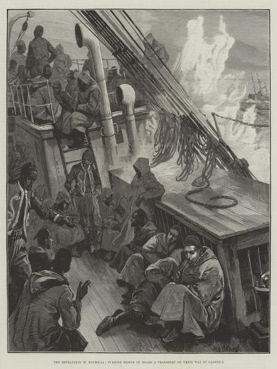 The Revolution in Roumelia, Turkish Redifs on Board a Transport on their Way to Salonica-William Heysham Overend-Giclee Print