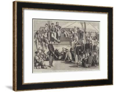 The Revolution in Sicily, Volunteers on Board the Washington Proceeding to Palermo-Thomas Nast-Framed Giclee Print